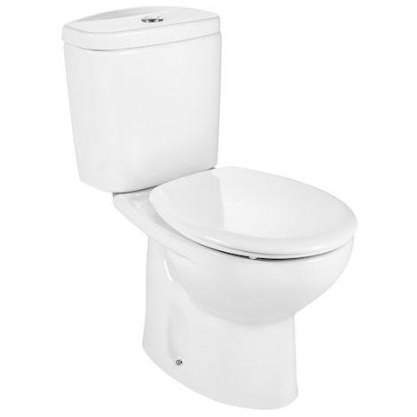 Taza (sin cisterna/asiento) para inodoro de porcelana con salida a suelo - Serie Victoria , Color Blanco (Anchura 665 mm) - Roca