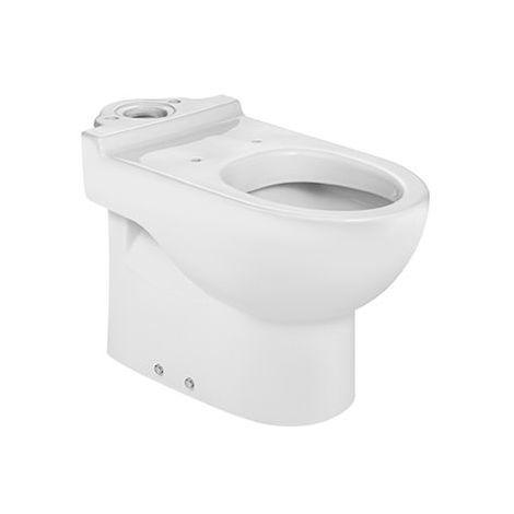 Taza (sin cisterna/asiento) para inodoro de porcelana con salida dual - Serie Meridian , Color Blanco - Roca