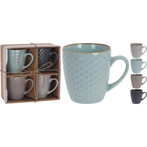 Tazon Mug Panal Set-4 30 CL - KOOPMAN - DN1800390