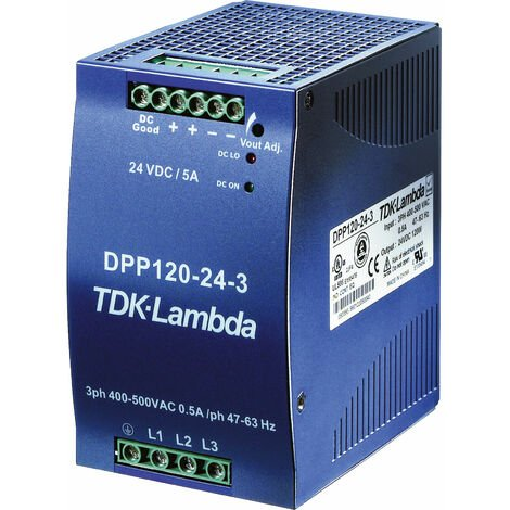 TDK-Lambda DPP120-24-3 DIN Rail Power Supply 120W 24V 3-Phase