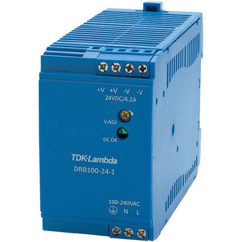 TDK-Lambda DRB-100-24-1 DIN Rail Power Supply 24-28V 4.2A
