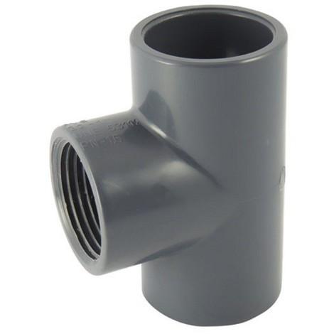 Té 90° avec dérivation taraudée PVC pression mixte FFF - Générique - Plusieurs modèles disponibles