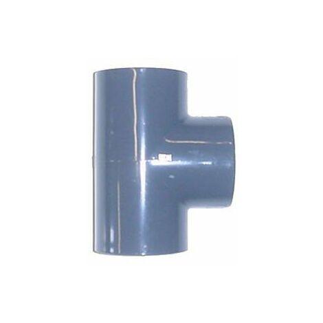 Té 90° PVC pression à coller FF - Générique - Plusieurs modèles disponibles