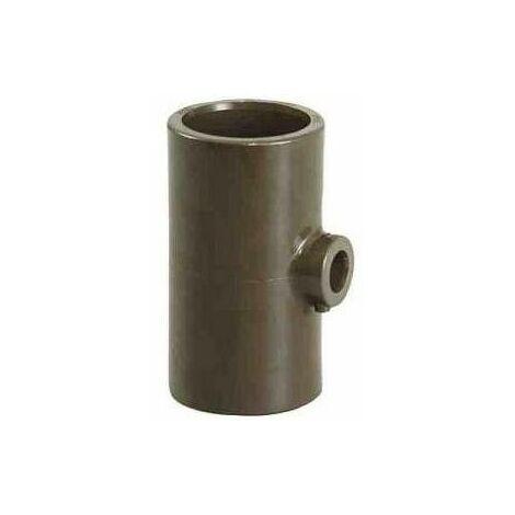 Te 90° reduit PVC HTA tous femelle D.63/32/63