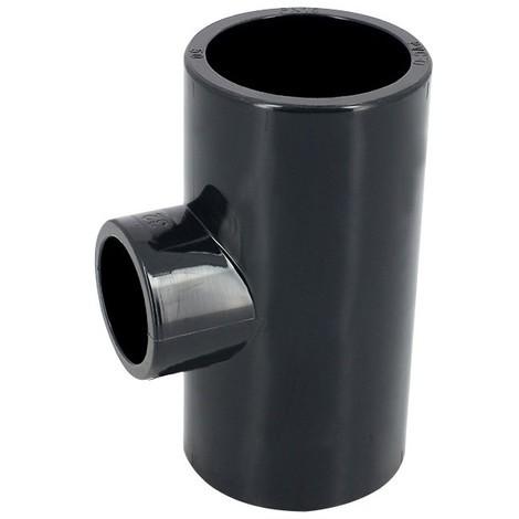 Té 90° réduit PVC pression à coller FF Ø63-20 - Catégorie Raccord PVC pression