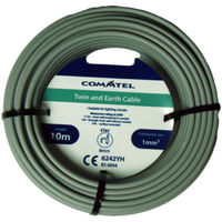 T&E Cable Electrical Cable Commtel Twin and Earth Cable 10m 1mm *Fast Postage*