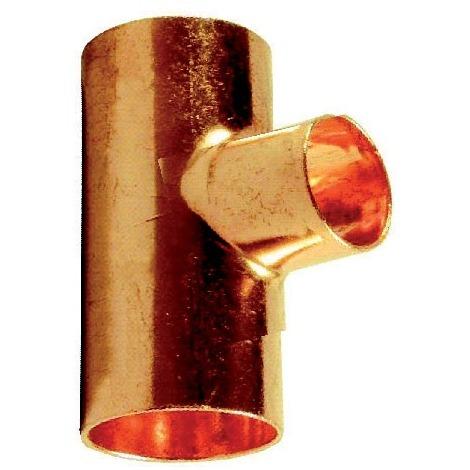 Té cuivre réduit pression FFF 32x22x32