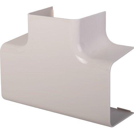 Té de dérivation plastique rigide beige Largeur goulotte (mm) 110