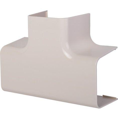 Té de dérivation plastique rigide beige Largeur goulotte (mm) 80