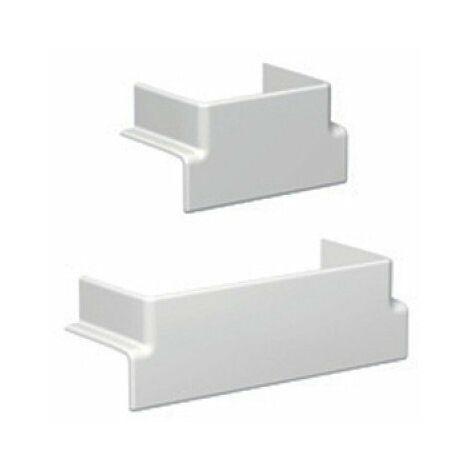 Té de dérivation pour goulotte PVC Optiline 45 - Vers goulotte verticale L140 x H55mm