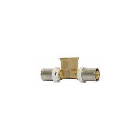 Te de latón de varias capas Radial femenina 20/15x21/20mm tipo
