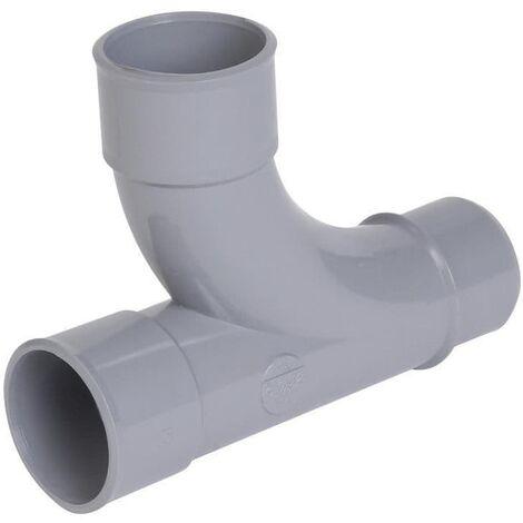 Te doe foot simpla mala-femlala a 87¡30 - PVC gris - ¯ 40 mm NICOLL, Ref. UTH18