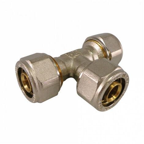 Té égal à compression pour tube Multicouche - plusieurs modèles disponibles