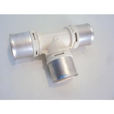 """Té égal à sertir diam 1"""" 32mm pour tube multicouche PPSU PB TUB MCRT32"""