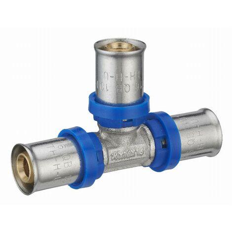 Té égal à sertir multiprofil TH-H-U pour tube multicouche NOYON & THIEBAULT - Ø 20 mm - 310902