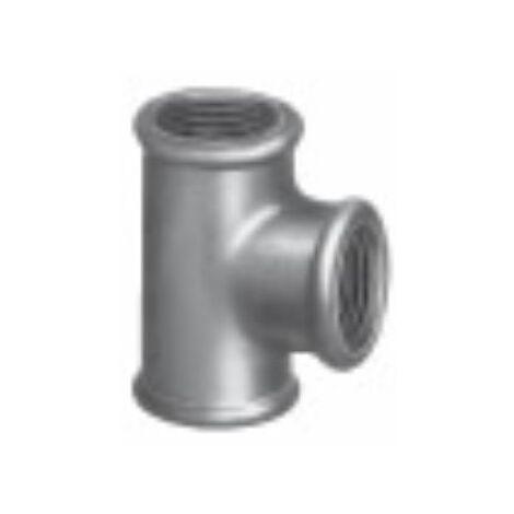 Té 90° fonte galvanisé - Femelle / Femelle / Femelle (G130) - Taraudage 20/27