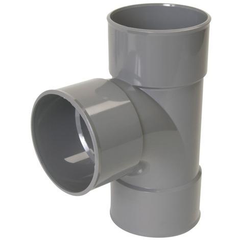 Té Femelle-femelle PVC simple à 87°30 - DE Ø 32 A Ø 100