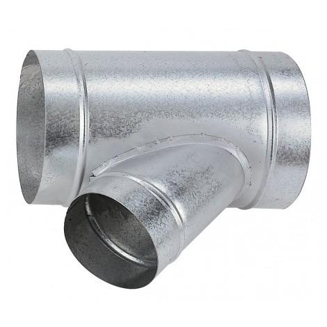 Té galva TEO125/80 pour réseaux VMC - oblique à 45° - ø 125mm