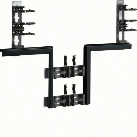 Té pour BKIS épais 25mm acier double hauteur RAL 9011 noir (BKIS251308D9011)