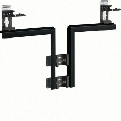Té pour BKIS épais 25mm acier simple hauteur RAL 9011 noir (BKIS251308E9011)