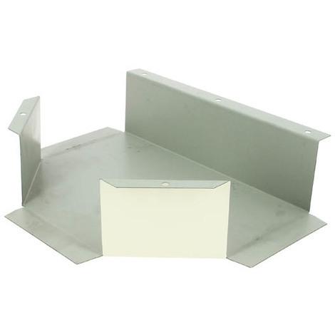 Té protecteur de liaison galva blanc 120x75mm