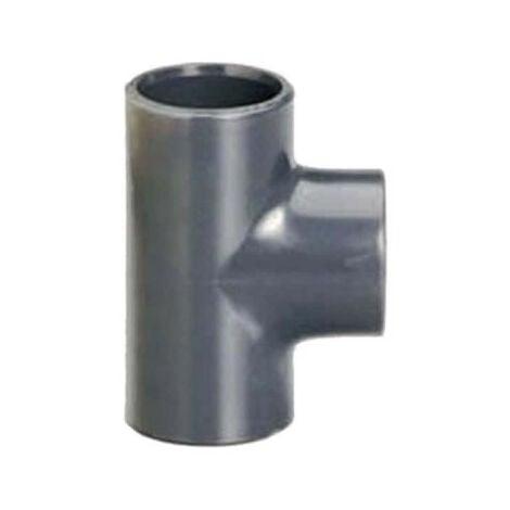 Té PVC Pression - À coller - 90° - Diamètre 63 mm - Femelle-femelle - 39011D