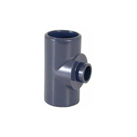 Té réduit à coller Pvc pression 90x63