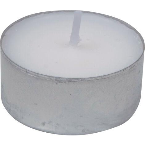 Set 50 Pezzi Tealight Candele Tea-light in Cera Biancha Tonde 575GR Durata 4 Ore