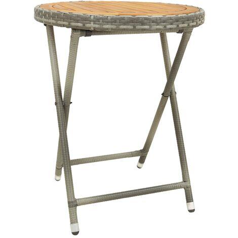 Tea Table Grey 60 cm Solid Acacia Wood