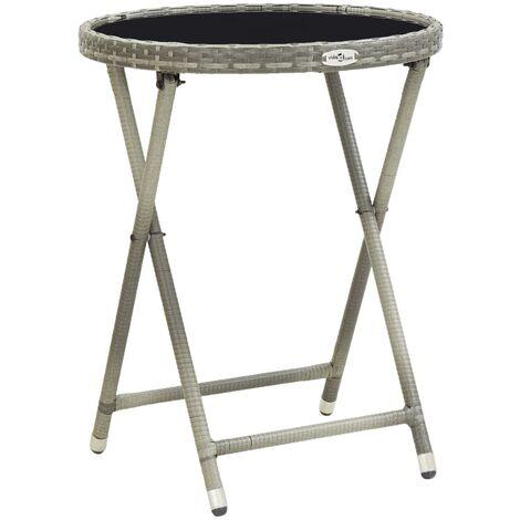 Tea Table Grey 60 cm Tempered Glass