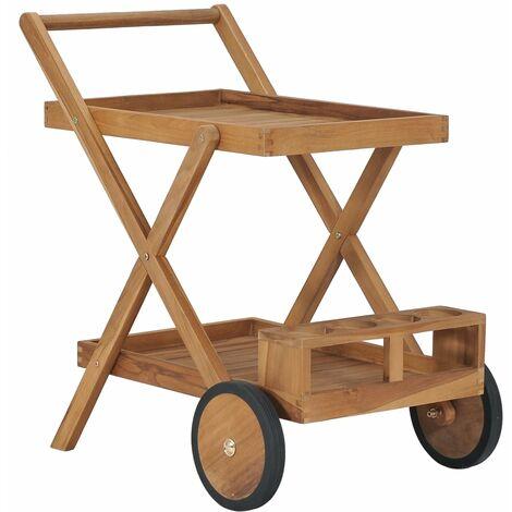 Tea Trolley Solid Teak Wood