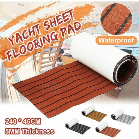 Teak EVA Foam Marine Boat Flooring for Yacht, Carpet Floor Covering (Brown, Brown with Black Lines)