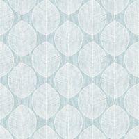 Teal Scandi Leaf Wallpaper Arthouse 908201