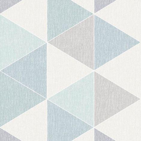 Teal Scandi Triangle Wallpaper Apex Modern Luxury Abstract Geometric Arthouse