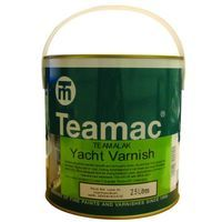 Teamac Clear Yacht Varnish (select size)