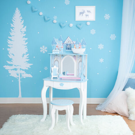 Teamson Kids Dreamland Castle Toy Vanity Set White / Pink TD-12951F
