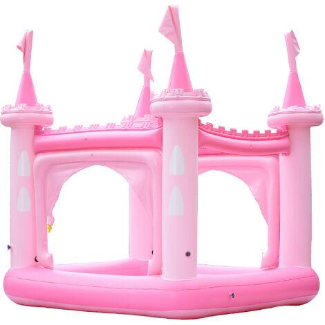 Teamson Kids Garden Childrens Pink Castle Inflatable Water Paddling Pool TK-48271P-UK/EU