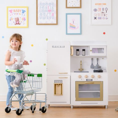 """main image of """"Teamson Kids Mayfair Kids Wooden Play Kitchen & 11 Accessories White TD-13302D"""""""