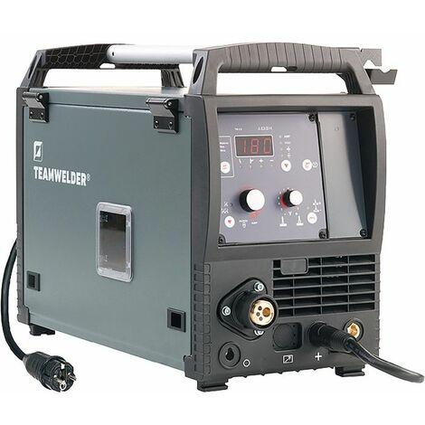 TEAMWELDER Máquina de soldadura MIG/MAG MIG 180 D3 Conjunto sinérgico con 5-180 A Zub.gasg.TEAMWELDER