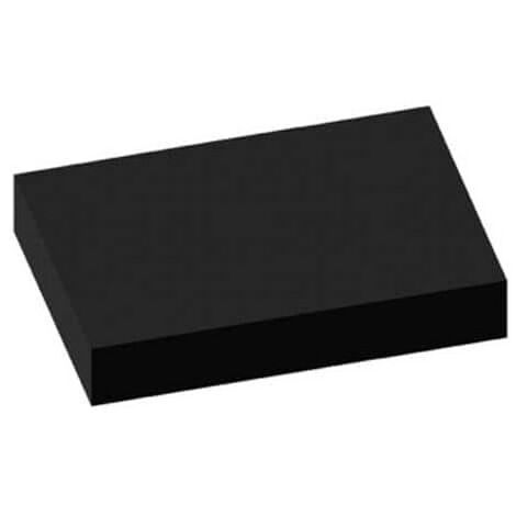 Teardrop black carpet 100x140cm thickness 3mm