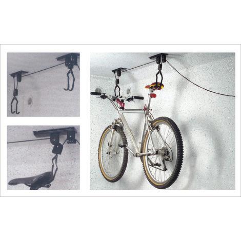 TEC HIT 175150 - Porte Vélo - Charge maximum de 20 Kg - En Acier - Gris Métallisé