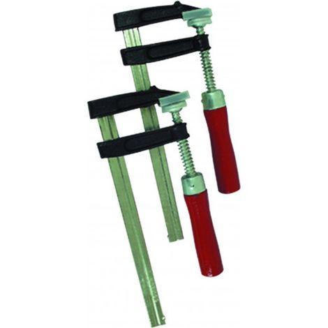 TEC HIT 324302 - Jeu de 2 Serre Joint - En Acier Renforcé - Pression pour les Collages - Dimension 150 mm x 50 mm - Rouge/Noir/C