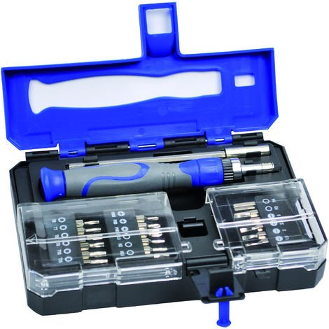 TEC HIT 651616 - Coffret de vissage mini - 20 pièces en Chrome Vanadium