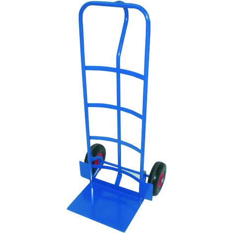TEC HIT - Chariot Diable Profesionnel - Spécial Charge lourde - Charge Max 365 kg - Bleu