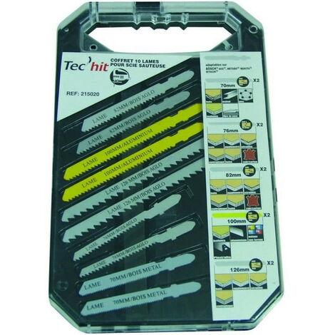 "main image of ""TEC HIT Coffret 10 lames scie sauteuse Bosch - AEG - Makita - Metabo - Hitachi"""