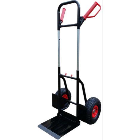 TEC HIT - Diable Manutention Télescopique - Charge Max 200 kg - Pliable - Noir