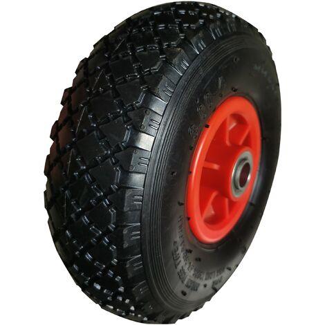 TEC HIT - Roue pleine - 251 x 73 mm - En polyuréthane - Axe 20 mm - Pour Brouete, Chariot ou Diable