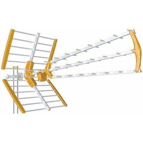 Tecatel antena exterior satélite HD 18 db naranja