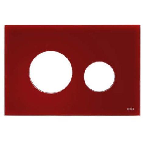 TECE Blende für TECEloop WC-Betätigungsplatte, Glas rubinrot 9240679