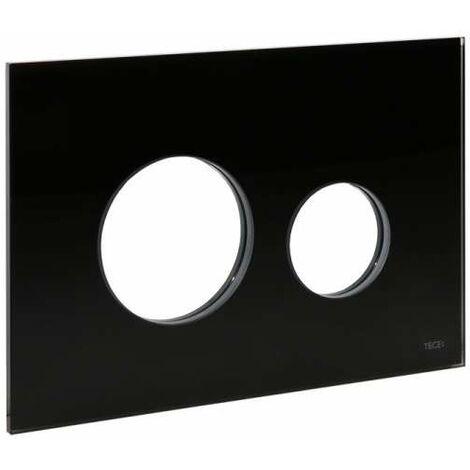 TECE Blende für TECEloop WC-Betätigungsplatte, Glas schwarz 9240674